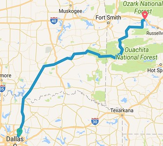 376 mile ride to Clarksville