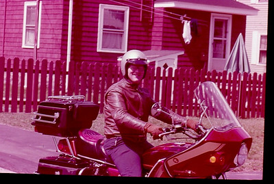 1980 or 1981 - Me on my Suzuki GS850