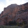 We watched some base jumpers launch from up there along 128.   The famous Moab slick rock is up there.