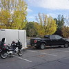 Our base in Moab.   Trailer served as garage for the RT.   The truck got us there and back but we didnt use it the whole time in Moab
