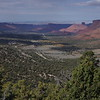 Loocking back down Castle Valley on the way up the La Sal swtichbacks