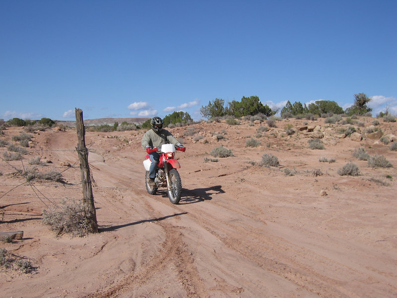Sandstrom ride a two-wheeler!