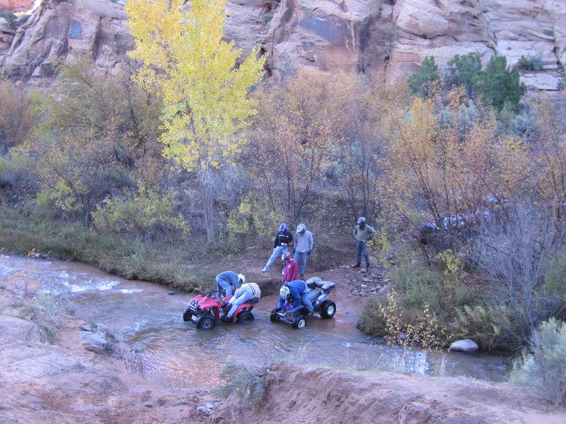 ATV's in the creek