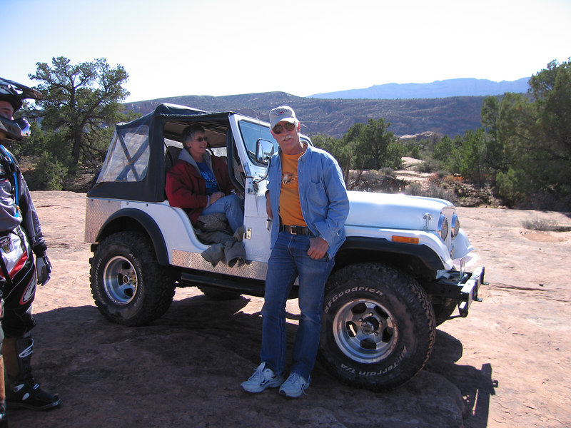 A Jeep on the trail