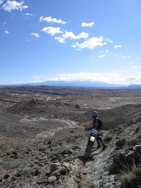 Ken takes a break on a tough section of trail