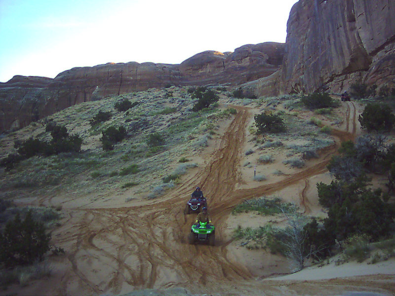 A steep, sandy hill