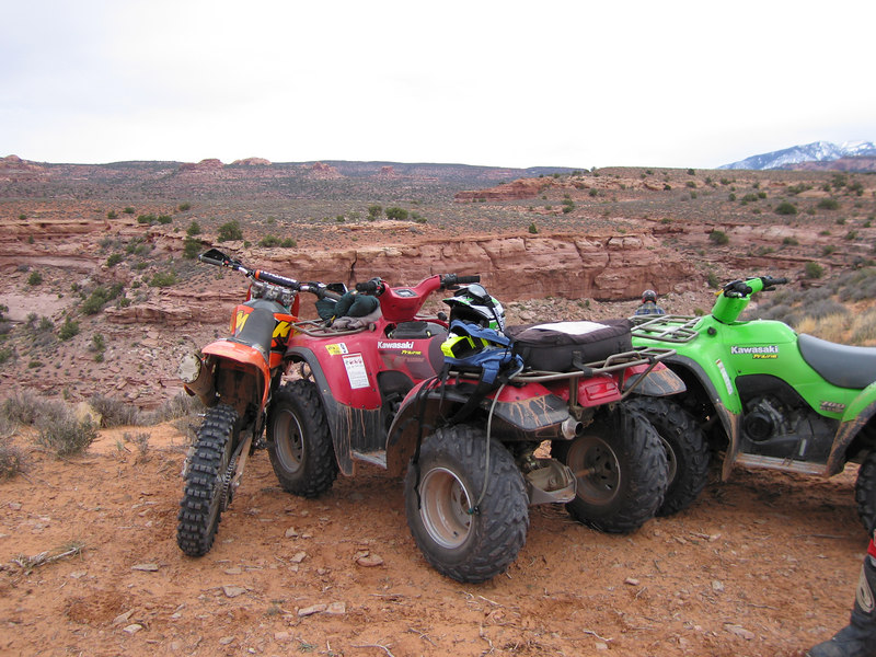 If nothing else, four wheelers make good kickstands