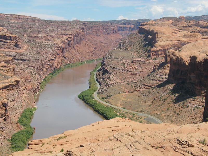 Scenic road 128 along Colorado River