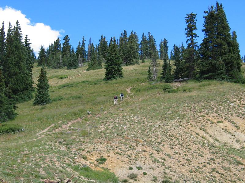 Hiking towards Manns Peak