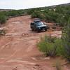 Jeep navigating small ledges