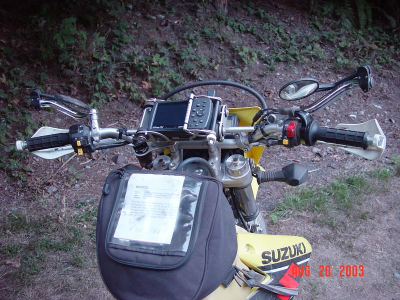 "This is a ""Garmin 176C"" GPS unit mounted in a ""Touratech"" anti-vibration mount.  The 176C, has a large easy to read screen, the unit also can store many tracks and routes.  The GPS, comes in handy when exploring an area that you are not familiar with, even if you get lost the ""track-back"" feather allows to find your way back to your starting point."