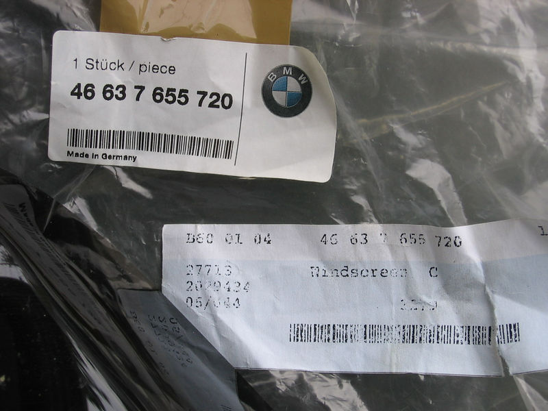 Oh. I forgot I took this picture. I didn't need to tell you the BMW part number. You can read.