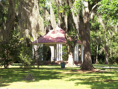A gazebo in St Francisville, Louisiana. An area steeped in history, St Francisville is the place to stop for viewing old plantations. There are several along the main road.