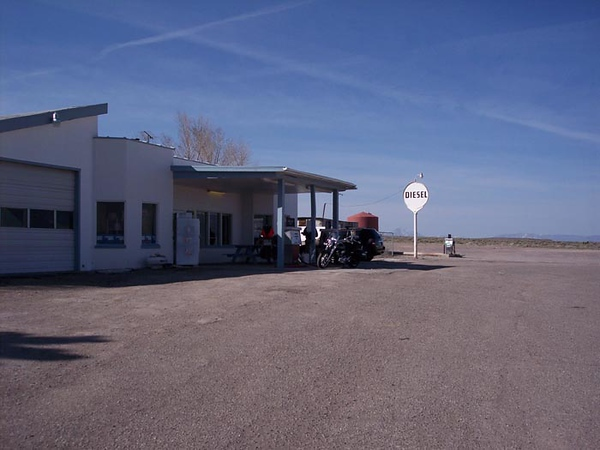 An old time gas station in the Great Basin