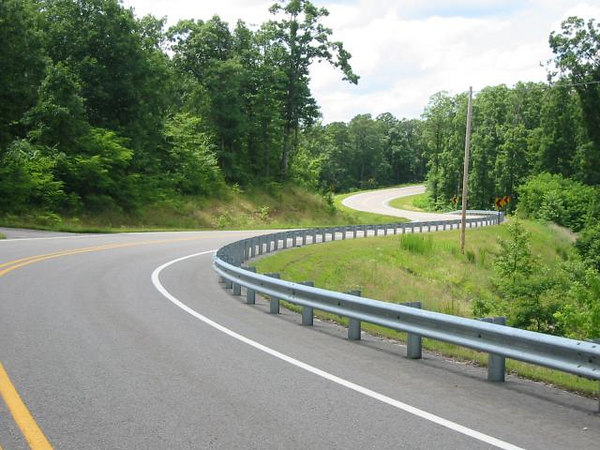 An example of the Ozark's fine roads
