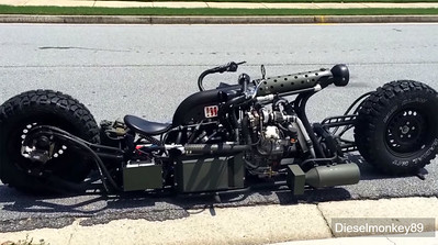 """Hydrostatic two wheel """"Bomber"""" whatever motorcycle.."""
