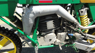 The Drysdale Dryvtech Motorcycle Had Hydraulic Propulsion, Braking, and Two Wheeled Hydraulic Steering