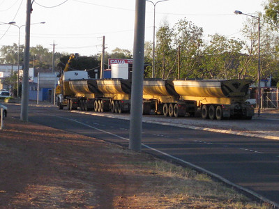 Road trains are common up this way.