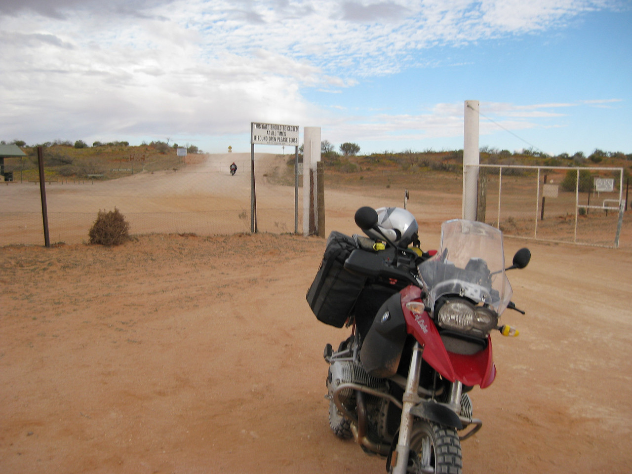 Waiting for the rest of the guys while stopping the wild dogs from getting through the gate.