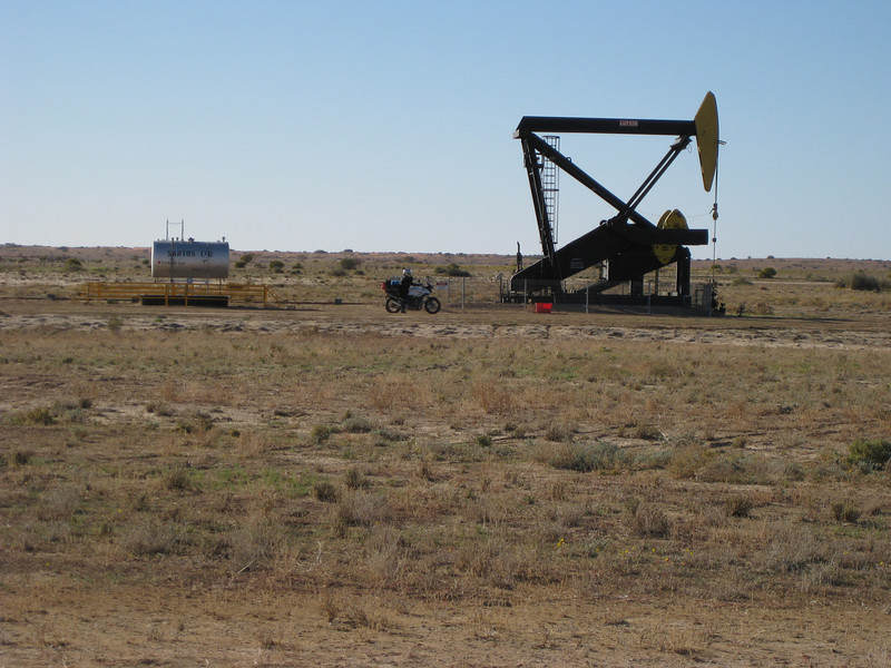 One of the many Santos gas rigs we passed along the way.