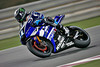 Ben Spies during Round 01 at Losail was braking so hard the front rotors were glowing red from the heat!!