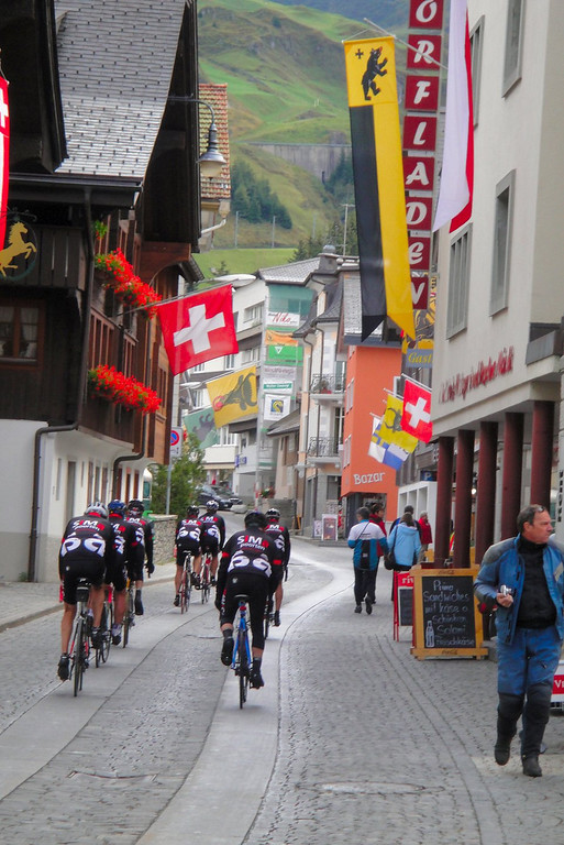 Bicycles in the streets of Andermatt - these guys are everywhere, Switzerland