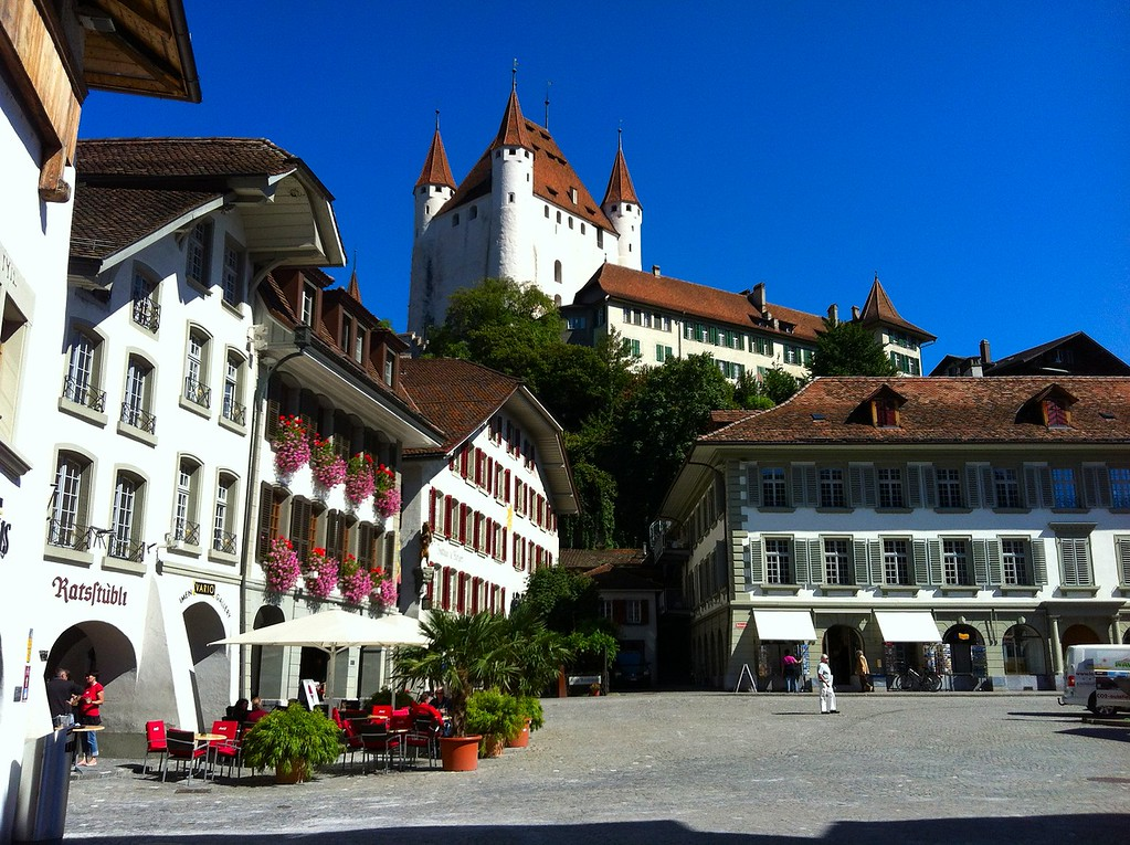 Our home base, old town center, Thun Switzerland