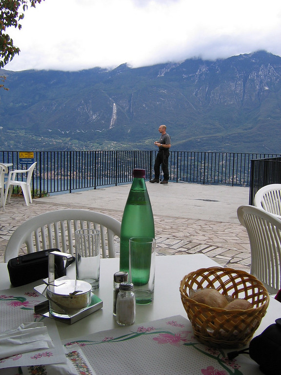 Getting ready for lunch high over Lago di Garda - Pieve Italy