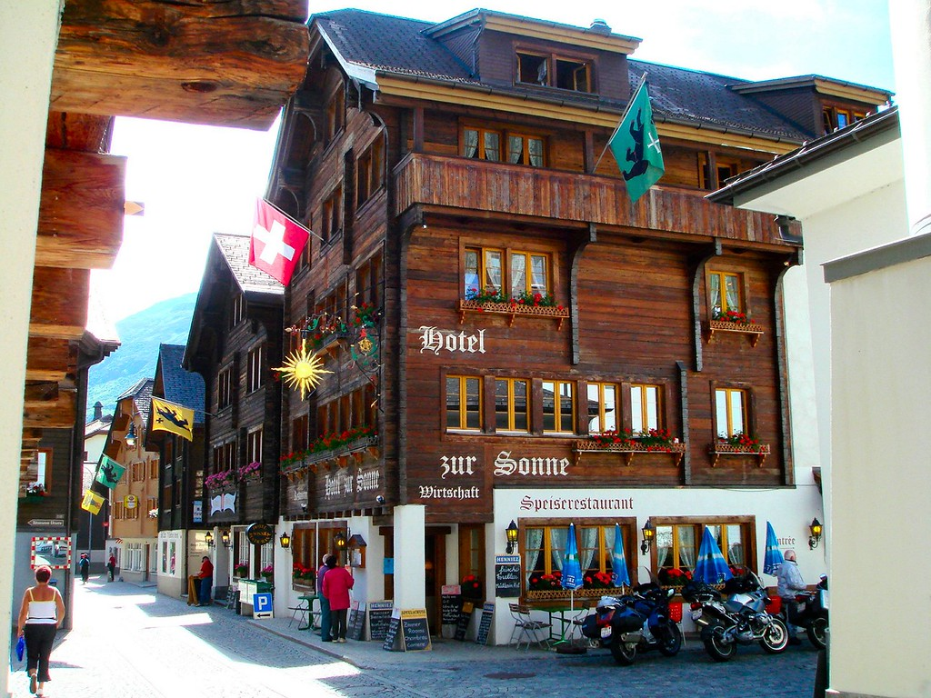 Our Swiss Alpine style hotel with an excellent kitchen in the center of Andermatt, Switzerland