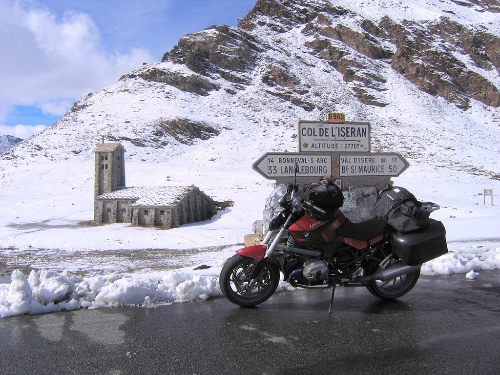 The top of Col di l'Iseran, #2 (#1 without the loop road on Bonette) - France