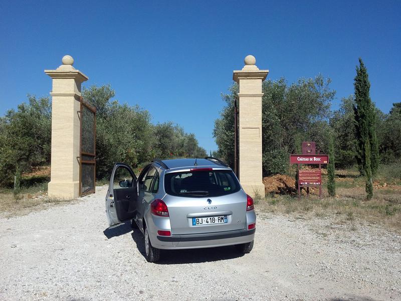 Entrance to Moto Velo Chateau de Bosc in Domazan France