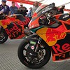 KTM Moto2 and MotoGP bikes.