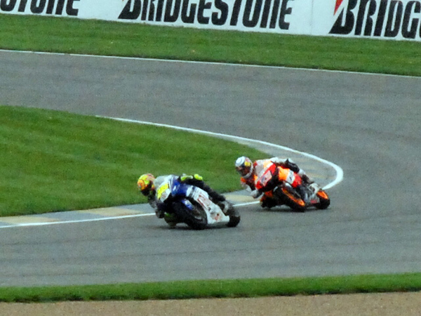 Valentino takes the lead