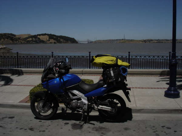 The view from Benicia CA, looking west towards the Carquinez Straight.