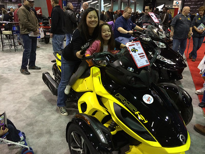 Mommy and Keira on the Can-Am