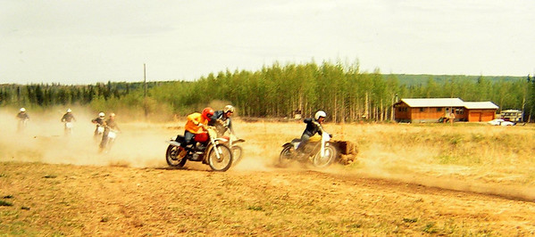 Motocross, Farmers Loop Rd Course, Fairbanks, Alaska, June 1971