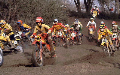 "Magoo #89, Eric McKenna #53 (yikes!) and Randy Losh #49  Quote from Ross Johnson found on the FaceBook Vintage Factory   ""I was at this race and have the results. 1/21/79 Indian Dunes GSS. 52 Bob Elliott, 77H Mark White who I went to school with, 89 Magoo, Z2 G. McNamara, 8A J. Lesniewski, 70 Lee Ramage, 53 Eric McKenna, 22 A. Smith, 16 Bob Marino, 49 Randy Losh. That might be Staten behind McKenna. LaPorte, Gillman, Breker won the day"""