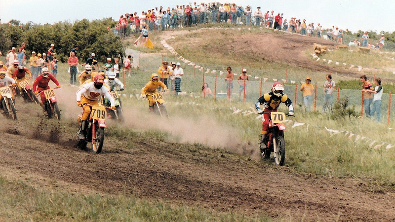 Qualifier start - me #445 out in the grass
