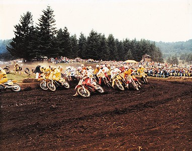 Moto 1 500ccc - I had the holeshot until I shut off and Mike Bell and Kenny Keylon dove under me. I see my Norcal moto brothers Joey Schlag (#562?) and Alan Berluti (#937)