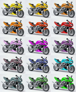Suzuki SV1000 custom colour chart by AndyW
