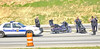 Motorcycle Wreck, I-20 East Bound at Fairburn Rd. Bridge.