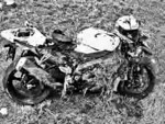 Crashed (stolen) Gixxer 1k