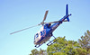 Emory Life Flight Helicopter transporting injured rider from motorcycle wreck, I-20 East Bound at Fairburn Rd. Bridge.