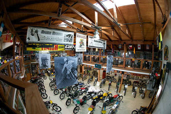 Tom White's collection is housed in a custom-built structure at his home in Southern California. He started with just one Greeves. He bought a few more for parts, and now has more than 120 pristine vintage motocross bikes. Check it out at  wwww.earlyyearsofmx.com/.