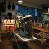 Another stall in the New York warehouse. The racer in question is an architect with a great eye for lighting.