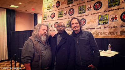 Sons of Anarchy stars - Mark Boone Jr., Kim Coates and yours truly -