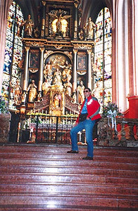 May 27, 1995 - Mondsee, Austria.<br /> <br /> The altar of the church in Mondsee. Anyone that has seen the Sound of Music might recognize this as the altar where the wedding scene took place.