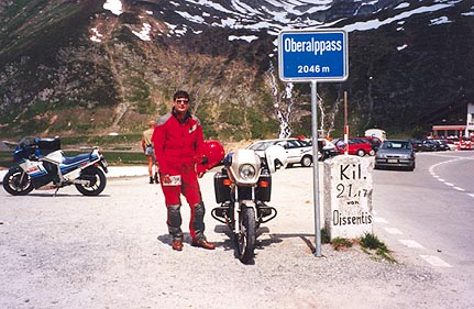 June 09, 1996 - Oberalppass, Switzerland.<br /> <br /> The West ramp of the Oberalppass (2046 m asl)  ends in the town of Andermatt. The town of Andermatt makes a very good home base for alpine touring because of its central location in Switzerland.