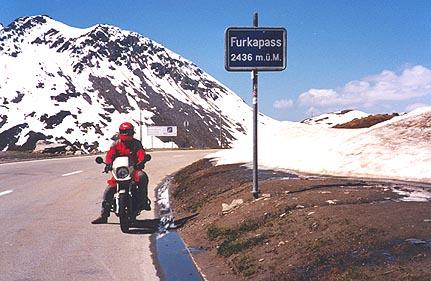 June 10, 1996 - Furkapass, Switzerland.<br /> <br /> The Furkapass (2436 m asl) lies between the towns of Realp to the East and Gletsch to the West.