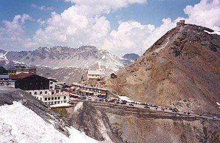 June 07, 1996 - Passo dello Stelvio a.k.a. the Stilfser Joch, Italy.<br /> <br /> I would rate the Passo dello Stelvio (2758 m asl) as one of the best passes in Europe. The air is quite thin up at this altitude. If you're in shape and don't notice this, your bike certainly will. This road lies between the towns of Gomagoi in the East and Bormio in the West.